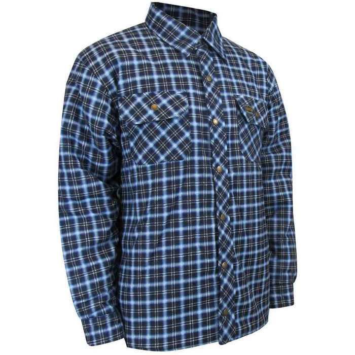 QUILTED FLANNEL SHIRT WITH RUSTPROOF SNAPS - Black Safety Pearl