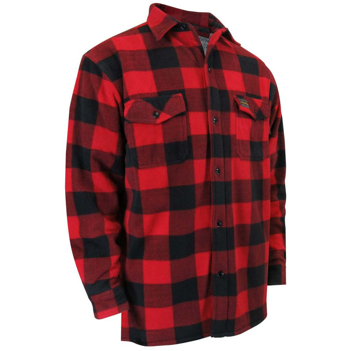 POLAR FLEECE SHIRT LINED WITH SHERPA. REGULAR PLASTIC BUTTONS