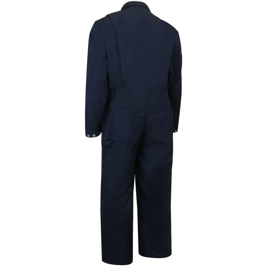 UNLINED COVERALL WITH ZIPPER ON THE LEGS - Black Safety Pearl
