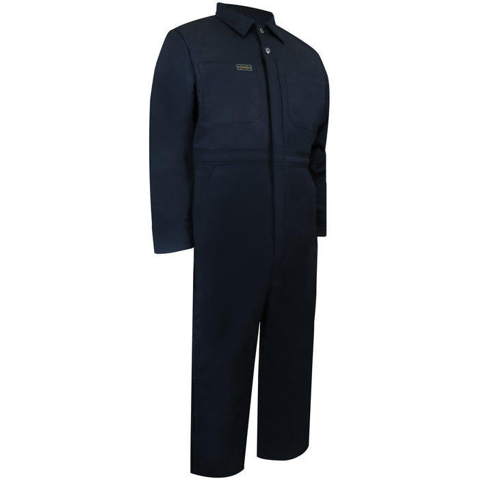 QUILTED COVERALL WITH ZIPPER ON THE LEGS - Black Safety Pearl