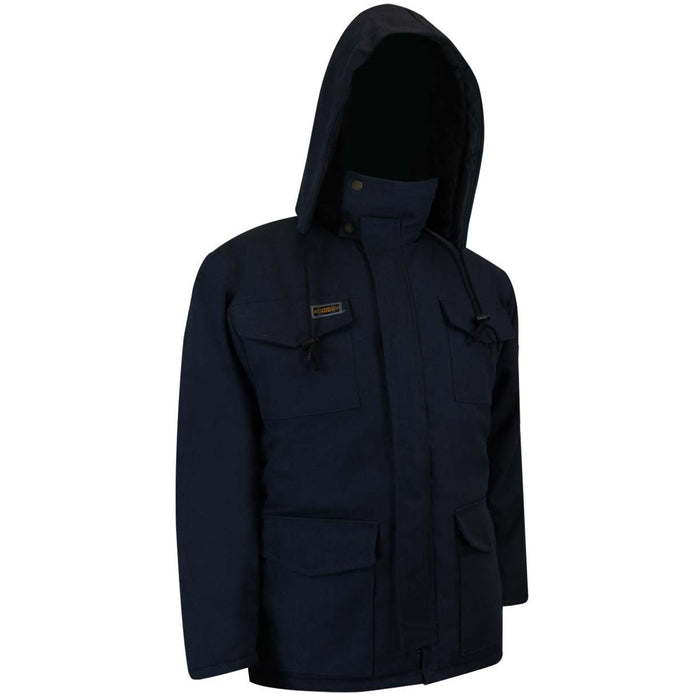 QUILTED DUCK COTTON INSULATED PARKA - Black Safety Pearl