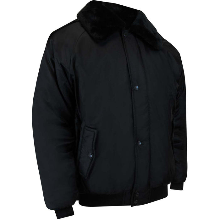 QUILTED BOMBER JACKET - Black Safety Pearl