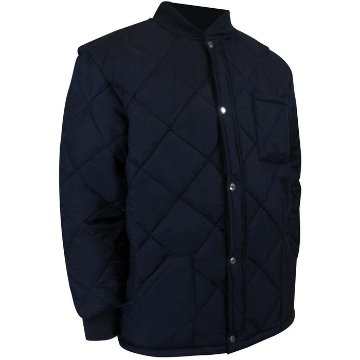 FLEECE LINED SHORT FREEZER JACKET - Black Safety Pearl