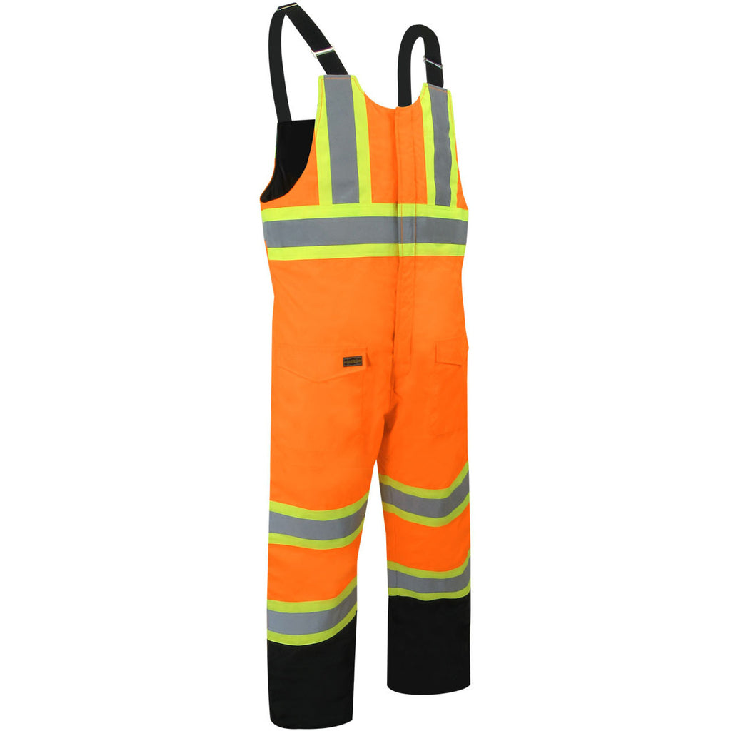 37327a4dd828b BIB PANTS WITH REFLECTIVE STRIPES – Black Safety Pearl Workwear