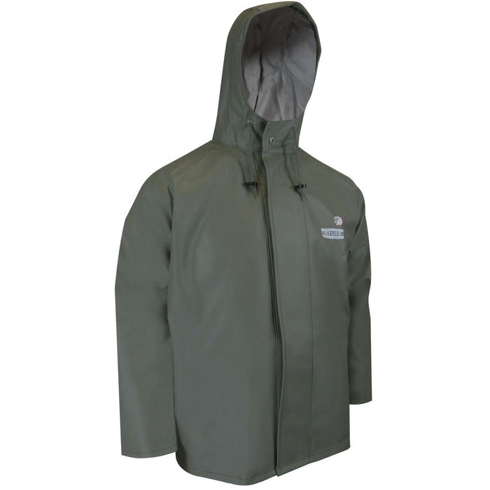 PVC RAIN JACKET - Black Safety Pearl