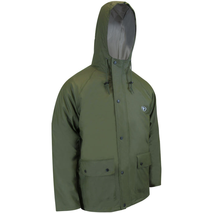 POLYURETHANE WATERPROOF JACKET - Black Safety Pearl