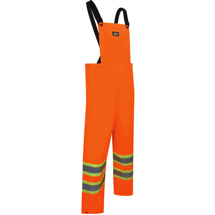 NYLON BIB PANTS WITH REFLECTIVE STRIPES