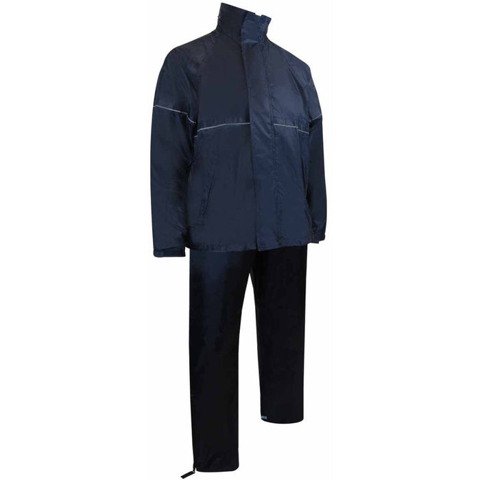 ENSEMBLE IMPERMÉABLE DE POLYESTER. MANTEAU + PANTALON - Black Safety Pearl