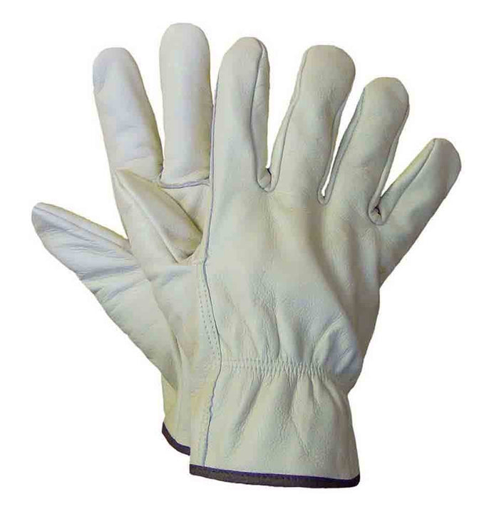 Leather driver glove. (Pack of 3 pairs) - Black Safety Pearl