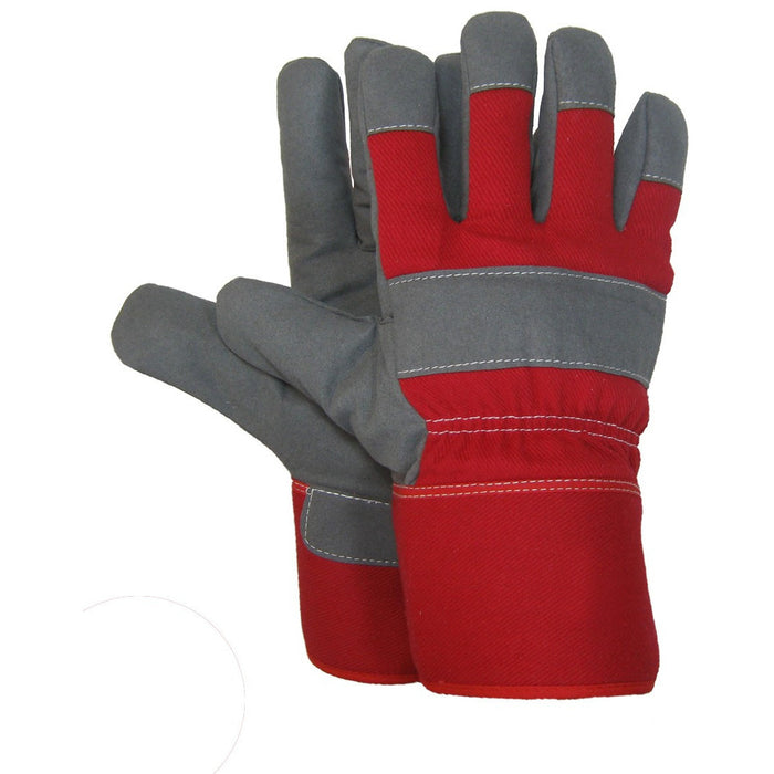 SYNTHETIC LEATHER WORK GLOVE(Pack of 3 pairs) - Black Safety Pearl