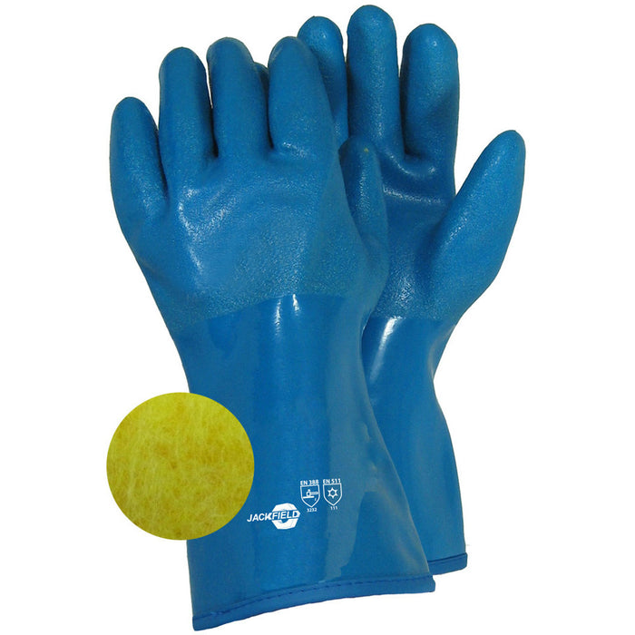 PVC AND NITRILE GLOVE ACRYLIC LINING (Pack of 3 pairs) - Black Safety Pearl