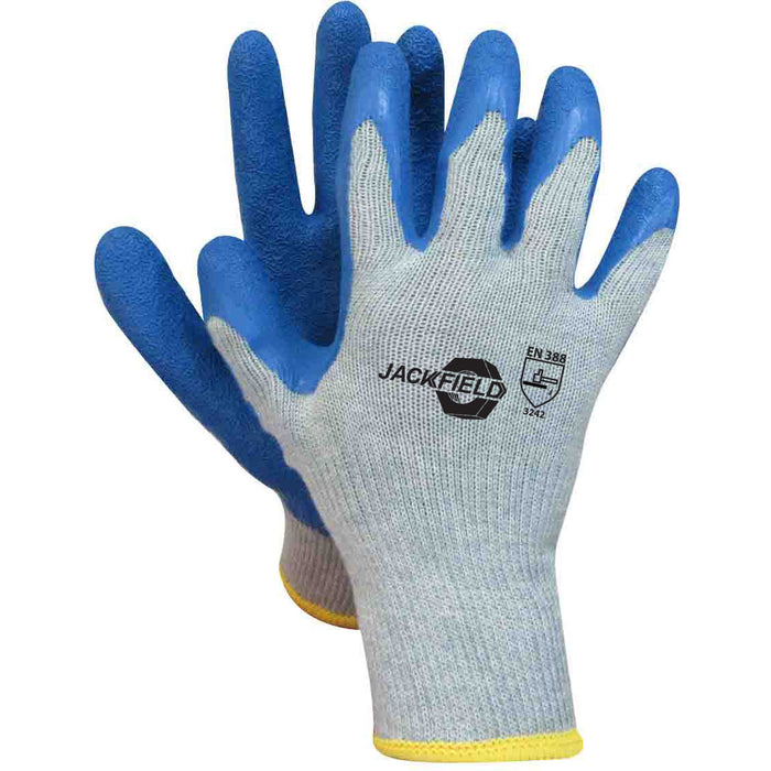 LATEX GLOVE(Pack of 6 pairs) - Black Safety Pearl