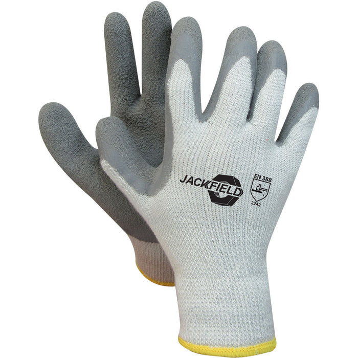 THERMAL LATEX GLOVE(Pack of 6 pairs) - Black Safety Pearl