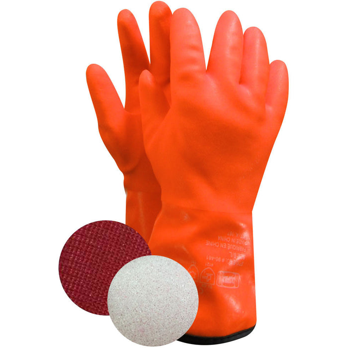 PVC GLOVE FOAM AND POLYESTER LINING (Pack of 3 pairs) - Black Safety Pearl