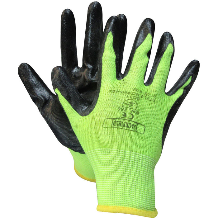 NITRILE GLOVE(Pack of 6 pairs) - Black Safety Pearl