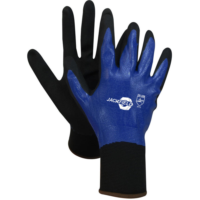 NITRILE GLOVE (Pack of 6 pairs) - Black Safety Pearl