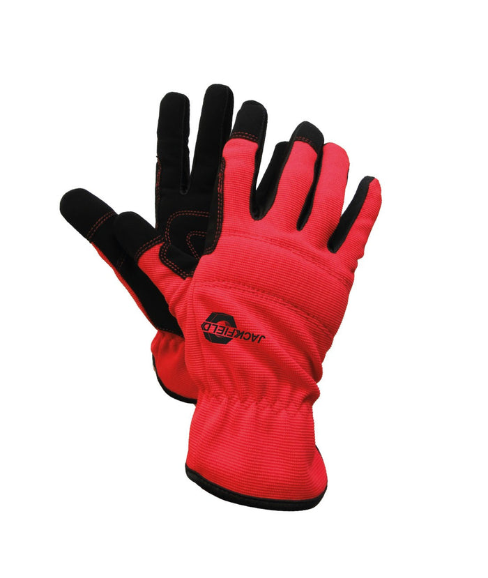 SYNTHETIC LEATHER MECHANIC GLOVE(Pack of 3 pairs) - Black Safety Pearl