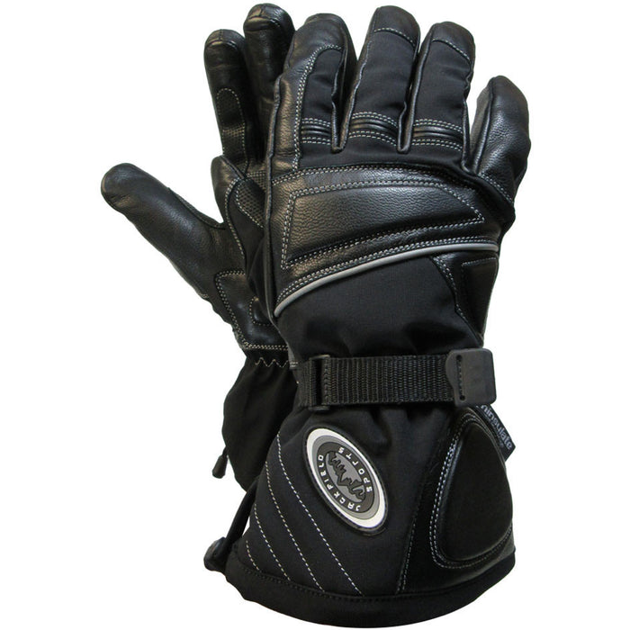 SNOWMOBILE GLOVES - Black Safety Pearl