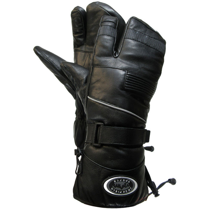 SNOWMOBILE MITT WITH FINGERS - Black Safety Pearl