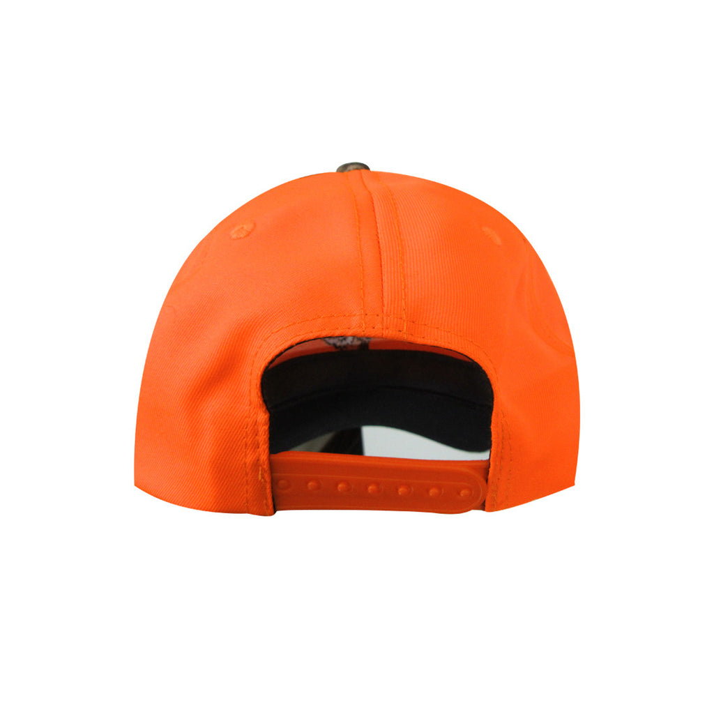 CASQUETTE ORANGE FLUORESCENT AVEC BRODERIE DE CHEVREUIL - Black Safety Pearl