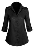 Women's Fitted Classic Button Down Shirt with Stretch Style #GT-025A