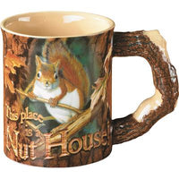 WILD WINGS SCULPTED MUG NUT HOUSE SQUIRREL