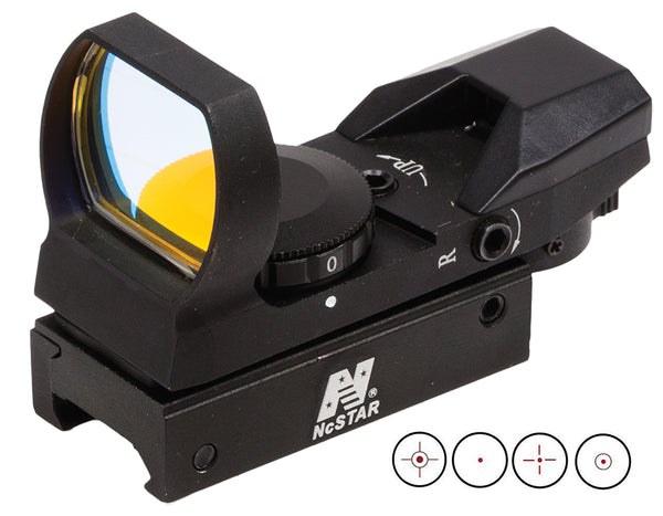 NCStar D4B Reflex Optic 1x 24x34mm 3 MOA Illuminated 4 Pattern Red CR2032 Lithium Black Anodized