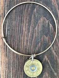 SPENT ROUNDS™ 12 GAUGE GOLD CHARM BANGLE BRACELET