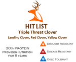 HIT LIST TRIPLE THREAT CLOVER 8 LB BAG 1 ACRE