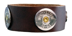 SPENT ROUNDS™ 12 GAUGE WINCHESTER BROWN LEATHER BRACELET