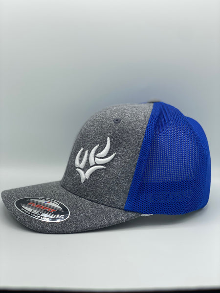 WHITETAIL HEAVEN LIMITED EDITION KENTUCKY PROUD FLEXFIT® MELANGE MESH BACK TRUCKER CAP