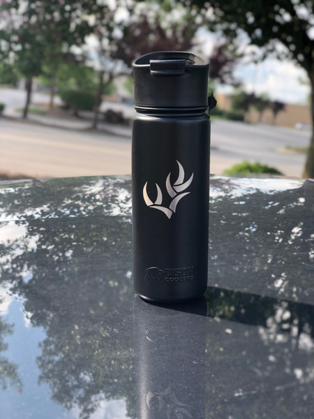 WHO ANTLER BISON BOTTLE - 18 OZ. STAINLESS STEEL