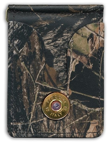 SPENT ROUNDS™ 12 GAUGE GOLD SHELL MONEY CLIP / CARD HOLDER CAMO