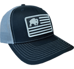 BISON BLACK AMERICAN FLAG CAP - RICHARDSON 112