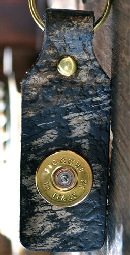 SPENT ROUNDS™ 12 GAUGE LEATHER KEYCHAIN CAMO