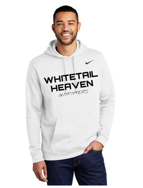 WHO WHITE NIKE CLUB FLEECE PULLOVER HOODIE