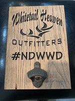 WHITETAIL HEAVEN WALL MOUNT BOTTLE OPENER