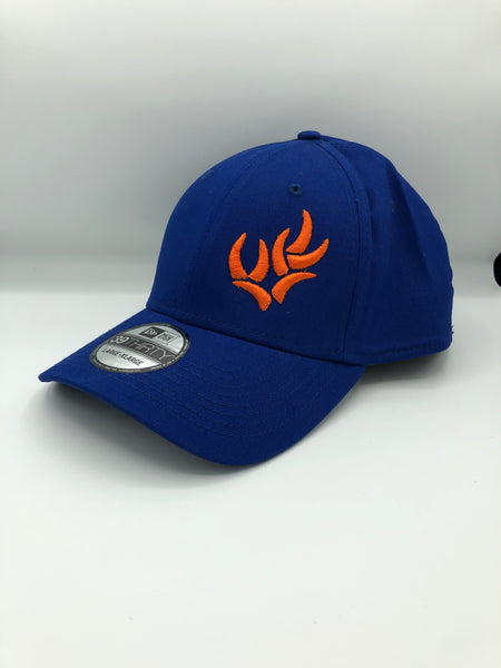 WHO NEW ERA® - ROYAL/ORANGE STRUCTURED STRETCH COTTON CAP