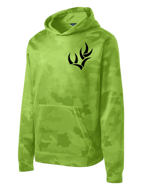 SPORT-TEK® YOUTH SPORT-WICK® CAMOHEX FLEECE HOODED PULLOVER