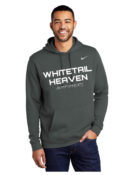 WHO ANTHRACITE NIKE CLUB FLEECE PULLOVER HOODIE