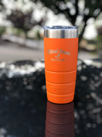 WHO CLASSIC 22 OZ. ORANGE BISON TUMBLERS
