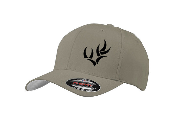 WHO GREY & BLACK FLEXFIT HAT