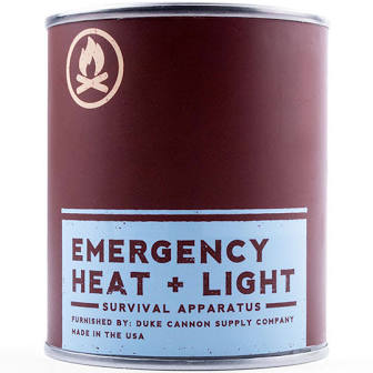 DUKE CANNON® EMERGENCY HEAT + LIGHT: LEAF AND LEATHER