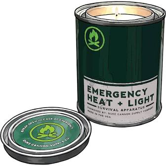 DUKE CANNON® EMERGENCY HEAT + LIGHT: FRESH CUT PINE