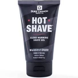 DUKE CANNON® HOT SHAVE CLEAR WARMING SHAVE GEL - TRAVEL SIZE