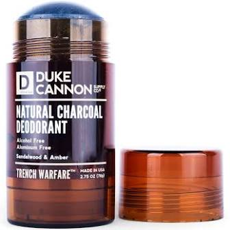 DUKE CANNON® TRENCH WARFARE NATURAL CHARCOAL DEODORANT (SANDALWOOD & AMBER)