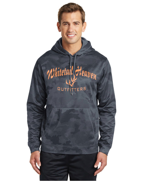 WHO SPORT-TEK® SPORT-WICK® CAMOHEX FLEECE HOODED PULLOVER