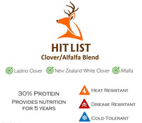 HIT LIST LADINO CLOVER/ALFALFA BLEND 6 LB BAG 1 ACRE