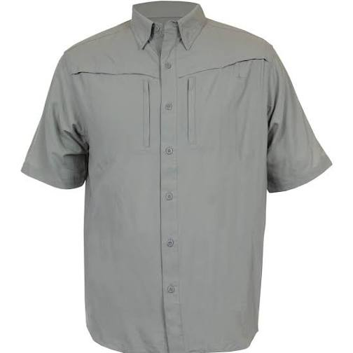 Habit Mens Size Large River Gorge Short Sleeve Shirt, SHADOW