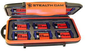 STEALTH CAM MEMORY CARD STORAGE CASE WITH 8GB 4-PK
